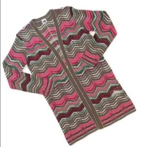 NWOT M by Missoni chevron cardigan sweater 44 (M)